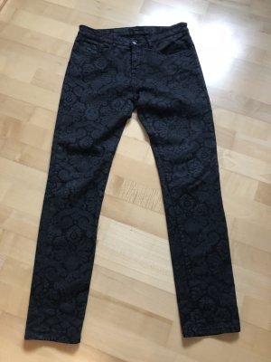 Hose, Opus, schwarz mit Brokat Muster, Größe 38