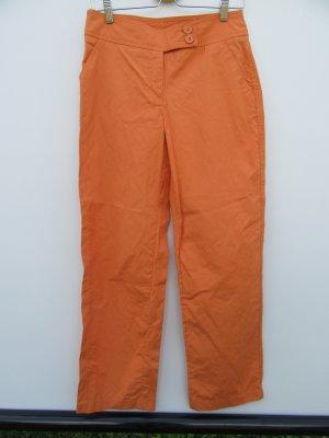 Vintage Broek met wijd uitlopende pijpen oranje