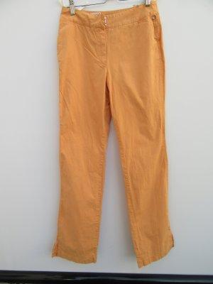 Vintage Broek met wijd uitlopende pijpen licht Oranje-oranje