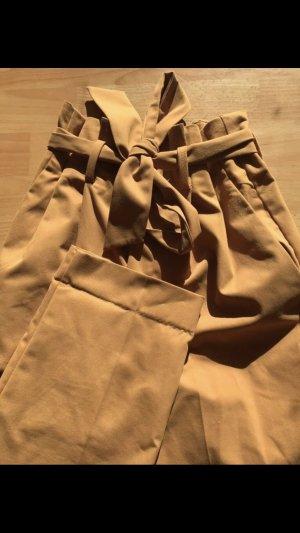 H&M Pantalon à pinces orange doré