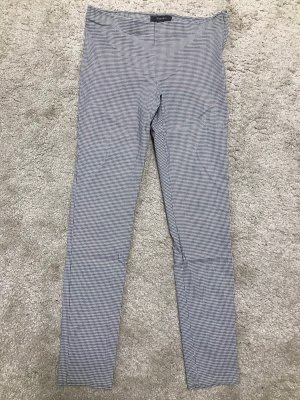 Primark Pantalón de cintura alta gris claro-blanco