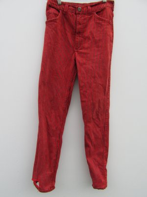 Vintage Drainpipe Trousers red