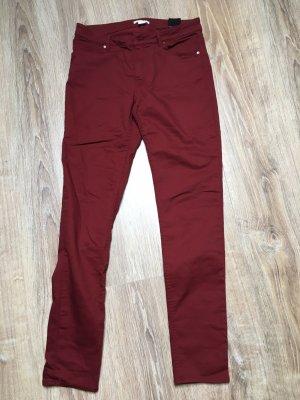 H&M Drainpipe Trousers bordeaux