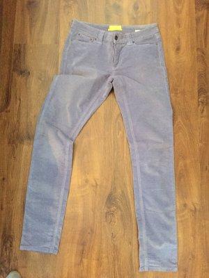 Witty Knitters Pantalón de pana gris claro-azul celeste