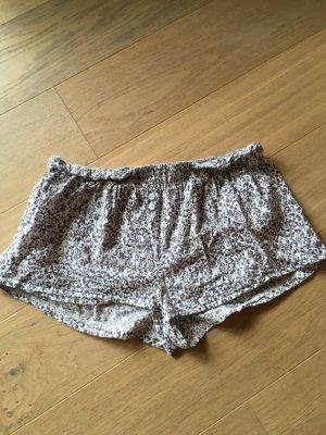 Hose Schlafhose Pyjama Hotpants Shorts gemustert Gr. L