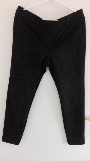 Hose schwarz aus Wildlederimitat von H&M