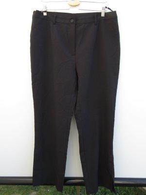 Vintage Broek met wijd uitlopende pijpen zwart