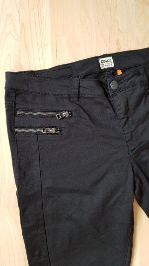Hose schwarz von Only Gr XL mit Reißverschluss Verzierung vorne