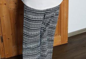 Hose schwarz/weiß gemustert