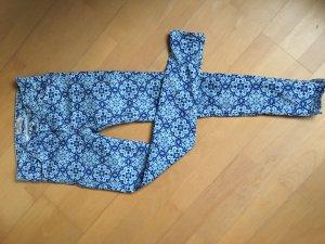 Hose Skinny mit Muster in Blautönen 34