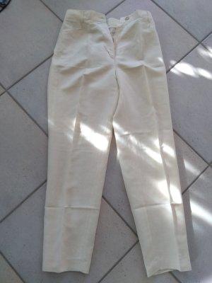 Taifun Pantalone a pieghe giallo chiaro Lino