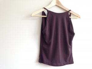 Cowl-Neck Shirt brown red