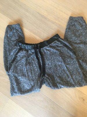 Hose Stoffhose Jogginghose für Zuhause grau