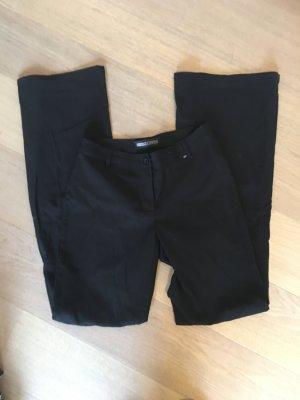 Hose Stoffhose klassisch schwarz Basic Boot Cut Gr. 36