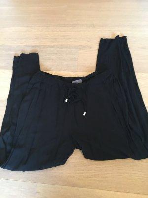 Hose Stoffhose leicht Sommer schwarz Gummibund Gr. 42