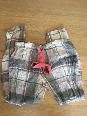 Hose Stoffhose Pyjama Freizeithose für Zuhause kariert süß Gr. M