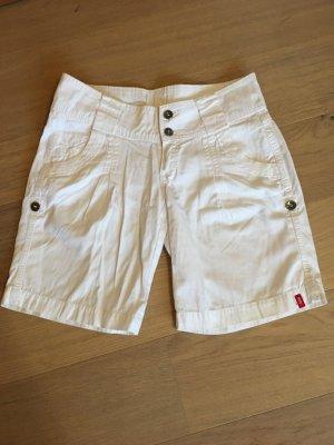 Hose Stoffhose Shorts Kurze Hose Bermuda weiß Sommer Gr. 38 Esprit NEU