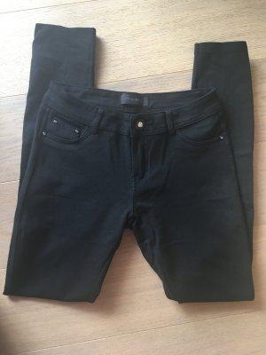 Hose Stoffhose Stretch Skinny schwarz Basic Gr. 38
