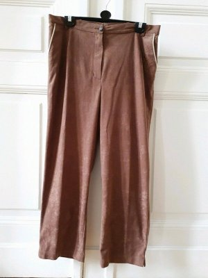 Vintage Pantalon taille haute brun sable-marron clair