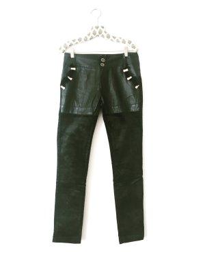 Vintage Pantalone cinque tasche nero-verde scuro