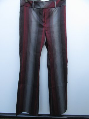 Hose Vintage Retro Gr. 38 grau rot Stretch