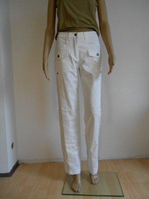 BC Pantalón tipo suéter blanco