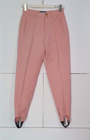 BELFE & BELFE Pantalone a sigaretta nero-rosa pallido