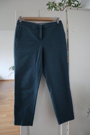 Boden Pantalon 7/8 bleu pétrole coton