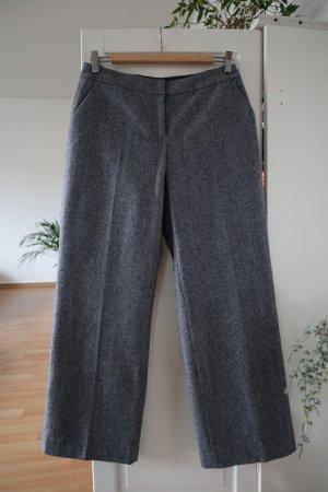Boden Wollen broek wolwit-donkerblauw Scheerwol