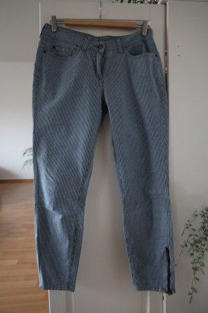 Boden Pantalone cinque tasche blu fiordaliso-bianco sporco Cotone