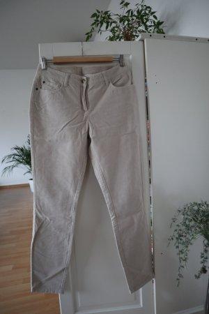 Boden Pantalone di velluto a coste beige chiaro Cotone