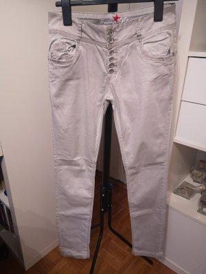 Buena Vista Pantalone a vita alta multicolore