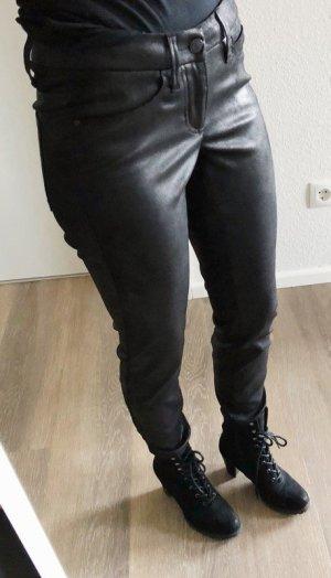 Hose von Cambio Kunstleder Lederlook Gr. 34 Zipper schwarz