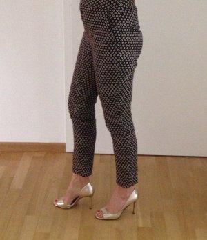 Diane von Furstenberg Pantalón tobillero negro-rojo