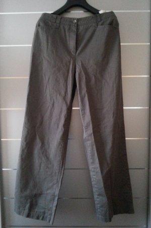 Hose von Gerry Weber, grau/ khaki, Größe 38 / M