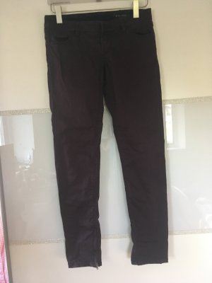 Guess Pantalone a vita bassa rosso mora-marrone-viola