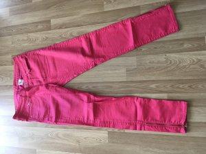 H&M pantalón de cintura baja rojo frambuesa