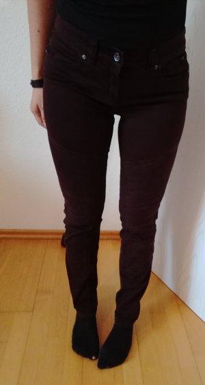 C&A Pantalon cigarette brun rouge-rouge mûre