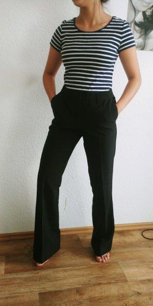 Esprit Linnen broek zwart-donkerblauw
