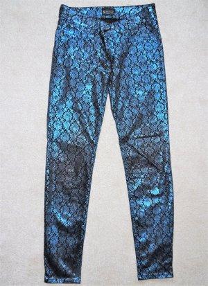 Laura Scott Stretch Trousers black-neon blue