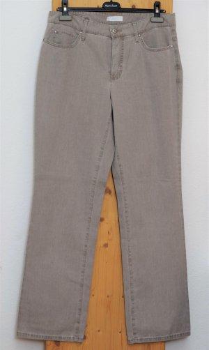 Mac Stretch broek grijs-grijs-bruin Katoen