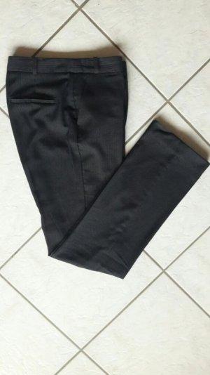 Mango Basics Pantalone da abito bianco-blu scuro