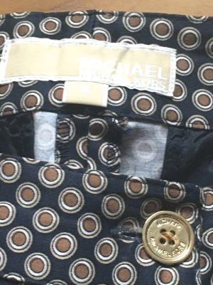 Michael Kors Pantalone a 7/8 blu scuro-marrone Cotone