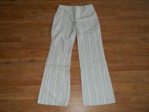 Hose von MNG Mango in Gr. 34 gestreift weiß grün beige grau