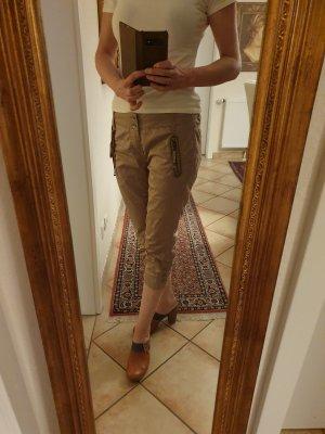 Mos Mosh 7/8 Length Trousers dark yellow cotton