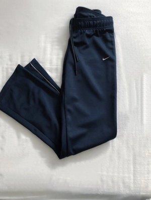 Nike Pantalon bleu foncé-blanc