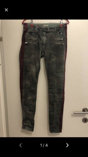 Please Jeans taille basse multicolore