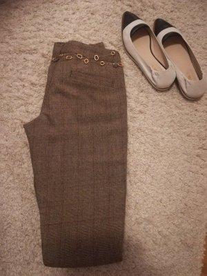Pantalon 3/4 brun-marron clair laine