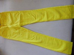 Vero Moda Drainpipe Trousers yellow cotton