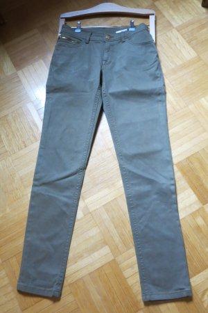 Yessica Drainpipe Trousers olive green-khaki